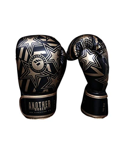 YeeWrr Martial Arts Sparring Boxsack Training Mitts-Womens Boxhandschuhe-Goldene Sterne_10 Unzen