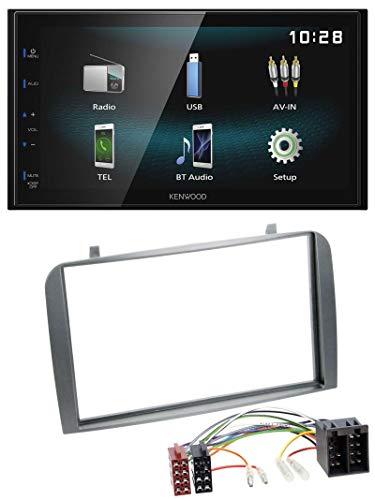 caraudio24 Kenwood DMX120BT AUX Bluetooth USB MP3 2DIN Autoradio für Alfa Romeo GT 147 00-10 anthrazit