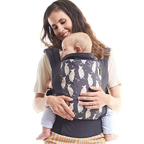 Boba Babytrage Classic 4Gs Tatou - Babytragetasche im Rucksack Stil – Tragen Sie Ihr Kind auf dem Bauch wie auch auf dem Rücken, für Babies ab 3kg bis zu Kleinkindern bis 20kg