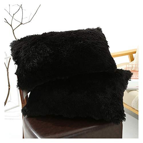 SFFSM Funda de Almohada Cubierta de cojín de Peluche Decoración para el hogar Cubiertas Cubiertas de salón Sofá Sofá Funda de Almohada Decorativa 50x70cm Shaggy Fluffy Funda D30