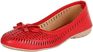 HD Women's Casual Leather Faux Riban Belly Shoes & Punch Bellies
