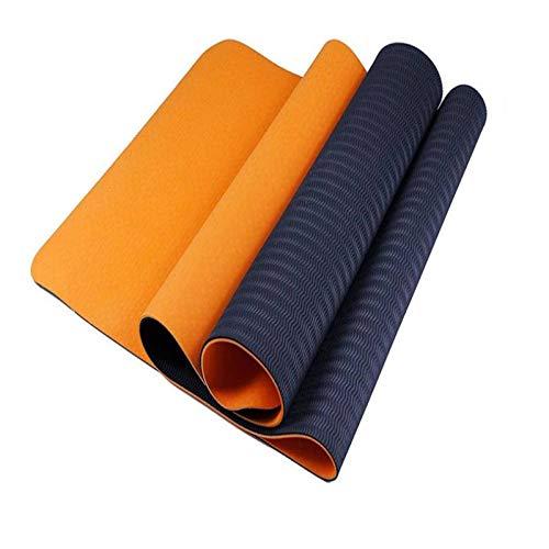 Colchonetas de yoga adecuadas para hombres y mujeres, fitness y deportes, que incluyen yoga, pilates y cualquier ejercicio en el suelo (6 colores, 183 * 61 * 0,6 cm / 72,04 * 24,02 * 0,24 pulgadas)