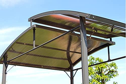 OUTFLEXX Ersatzdach für Grillpavillon, grau, Polycarbonat, 150x245 cm