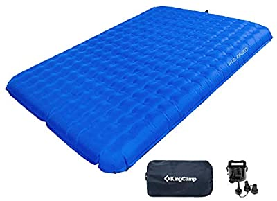 KingCamp Double Camping Air Bed Sleeping Pad Ultralight with Battery Operated Pump for Backpacking, Self-Driving Tour, Hiking, Tent