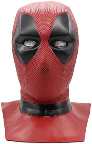 Dead pool Mask Replica PVC Latex Mask Movie Cosplay Halloween Costume product image