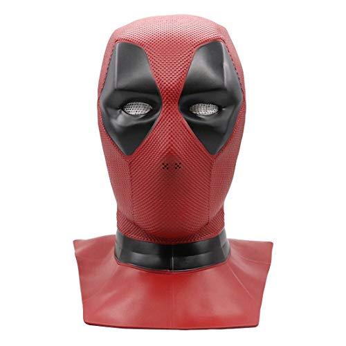 Dead pool Mask Replica, PVC Latex Mask Movie Cosplay Halloween Costume