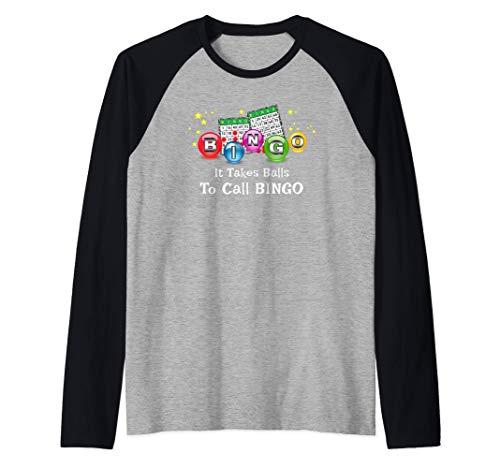 Se necesitan bolas para llamar al bingo - Regalo divertido Camiseta Manga Raglan
