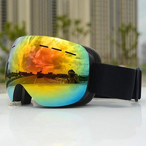 anruo Skibril heren en dames dubbellaags anti-condens groot skimasker bril bescherming ski winter sneeuw skibril