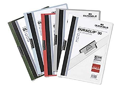 Preisvergleich Produktbild Durable 220002 Klemm-Mappe Duraclip Original 30 Hartfolie (bis 30 Blatt A4) 25er Packung weiß
