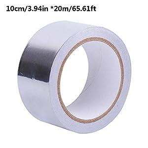 Cinta de Papel de Aluminio de Alta Temperatura, Cinta de Papel de Aluminio Cinta Adhesiva de Papel de Aluminio de Grado Profesional Cinta de reparación de tuberías de Calentador de Agua Cinta de aisl