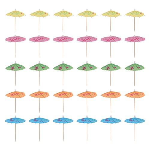 YARNOW 100 Unidades de Paraguas de Cóctel Selección de Bebidas Palitos de Cóctel Paraguas de Bebida Cupcake Toppers para Aperitivos de Cóctel Helado de Fruta Paisajismo