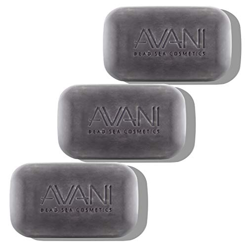AVANI Dead Sea Cosmetics Purifying Mud Soap – Includes Vitamins, Essential Oils, Plant Extracts – 3 Pack