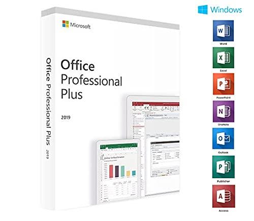 Office 2019 Professional (Professionnel) Plus | Clé de licence authentique | Multilingue | 1 PC | Service le jour même
