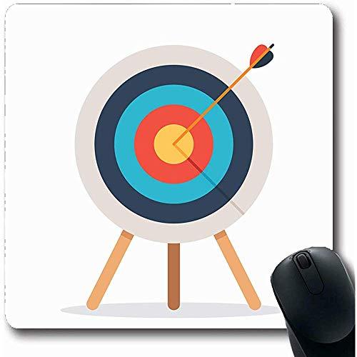 Mousepads Recreatie Boogschieten doel pijl staande op statief doel winnen sport Bullseye doel Dart Dartbord plat Oblong vorm 18X22Cm anti-slip Gaming Mouse Pad