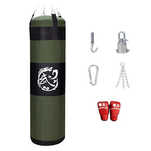EYLIFE Boxing Bag Boxsack Erwachsene Kinder, Punching Bag Set mit Boxhandschuhen und Deckenhalterung, Ungefüllt 60/80/100/120/150 cm,100cm