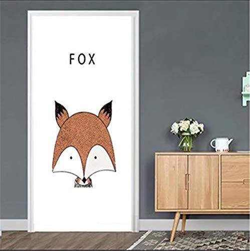 Super Hero Door Stickers for Kids Room Bedroom DIY Self-Adhesive Wallpaper for Doors Art Home Decor Poster 95x215cm/Custom Size