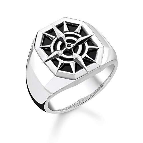 Thomas Sabo Unisex-Ring Kompass 925 Sterlingsilber TR2274-641-11-54