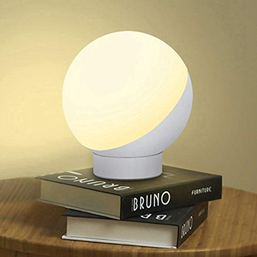 Vaxiuja Mesa de Billar de iluminación 7W Inteligente lámpara de Mesa RGB Blanco cálido WiFi aplicación de Control Regulable luz de la Noche Amazon Inicio AC100-264V (Color : Blanco, tamaño : EU Plug)