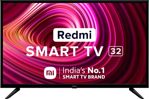 Redmi 80 cm (32 inches) HD Ready Android Smart LED TV | L32M6-RA (Black) (2021 Model)