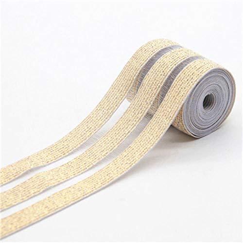 5 cm Kant Elastische Bands Zwart Wit Net Webbing Rubber Taille Band 50 mm DIY Craft Supply voor Tas Ondergoed Rok Broek Accessoire 50mm 3yusi gold 1M