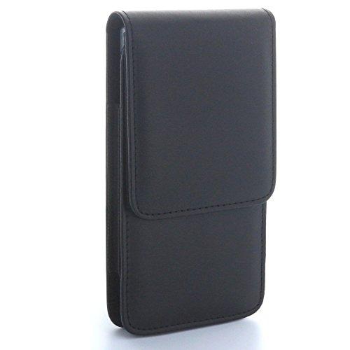 XiRRiX Vertikal Tasche mit Stahlclip & Sicherungsschlaufe - Größe XL - passend für Microsoft Lumia 640 650 950 - Wiko Rainbow Jame Lite UP