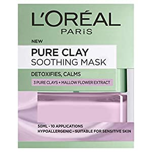 L'Oreal Paris Pure Clay Soothing Face Mask, 50 ml