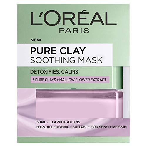 L'Oreal Paris 3 Pure Clays and Red Alae Glow Mask Rustgevend masker. Rustgevend masker.