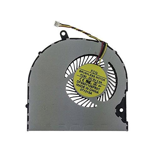 Devicizz™ Ventilador Toshiba H000047190 compatible con Satellite P50 | S50-A | S50S-A | S50T-A y números de pieza DFS501105FR0T | DFS531305M30T | H000068000
