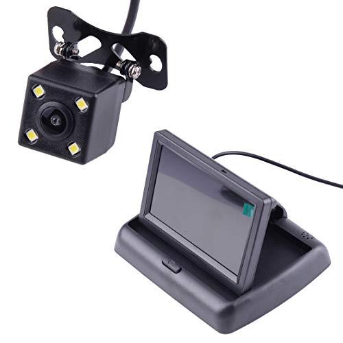 CITALL Kit caméra de vision nocturne sans fil à recul arrière avec écran de recul Moniteur LCD TFT adapté aux voitures