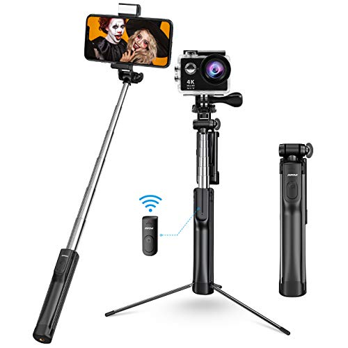 Mpow Selfie Stick Tripod, All in 1 Portable Extendable Selfie Stick with Bluetooth Remote & Fill...