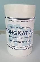 Tongkatali.org's Indonesian 1:50 Tongkat Ali Extract, 400 capsules of 250 mg
