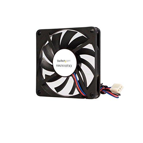 StarTech.com Replacement 70mm TX3 Dual Ball Bearing CPU Cooler Fan - 3 pin case Fan - TX3 Fan - 70mm Fan (FAN7X10TX3), Black