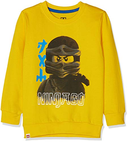 Lego Wear Jungen Lego Boy Ninjago CM-73087 Sweatshirt, Gelb (Yellow 202), 104