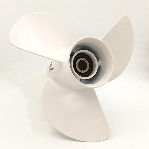 POLASTORM Aluminum Outboard Propeller 13 1/2x15 Yamaha Engines 50-130HP 6E5-45947-00-EL