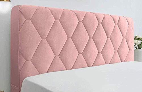 Funda Elástica para Cabecera De Cama Terciopelo Grueso Elástico Todo Incluido Protección para La Decoración La Cabecera Cubierta Antipolvo para Camas Tamaño King/Doble ( Color : Pink , Size : 100cm )