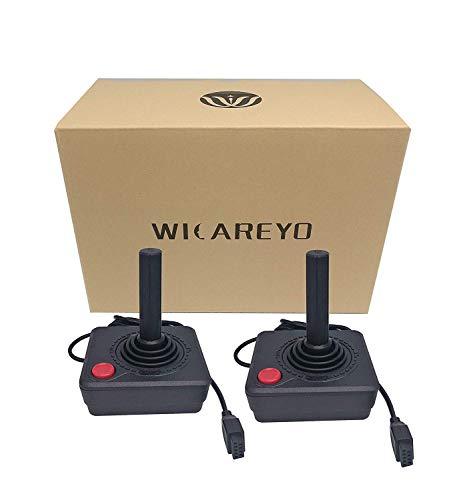 WiCareYo Controller Gamepad Black Joystick für Atari 2600 System Konsole Pack 2pcs