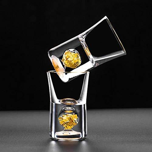 LFT 10 ml Wodka Glas Weinglas Gold Weinglas mit integrierter Goldfolie Weinglas multi