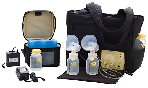 Image of Medela Pump in Style Advanced with On the Go Tote, Double Electric Breast Pump, Nursing Breastfeeding Supplement, Portable Battery Pack, Sleek Microfiber Tote Bag included with Breastpump