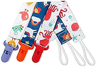 3 Pack Pacifier Clip Universal Binky Holder Leash for Boy Girl fits All Baby Teether Teething Toys or Soothie Gift Set