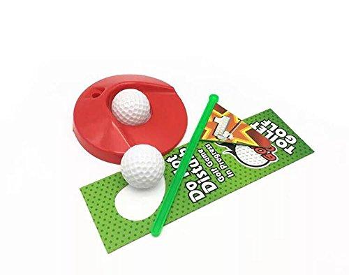 Amasawa Toiletten Golf Set, 6-teilig, Golfschläger, Circa 62 cm,Töpfchen Putter Badezimmer Spiel Neuheit Putting Geschenk Spielzeug Trainer Set. - 6