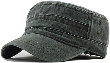 para Mujer para Hombre Gorra de b/éisbol Sombrero para el Sol de algod/ón Gorra Militar Transpirable para Exteriores Sombrero Ligero Superior Plano Deportes al Aire Libre riou