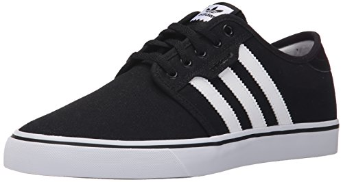 adidas Originals Men's Seeley Running Shoe, Black/White/Gum, 12 M US