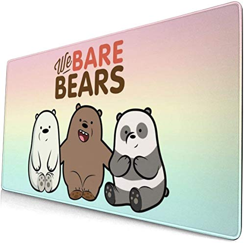 N/A Cool We Bare Bears Mouse Pad Personalized Design Square Mouse Pads for Computers, Laptop, Office & Home 16x30 Inch