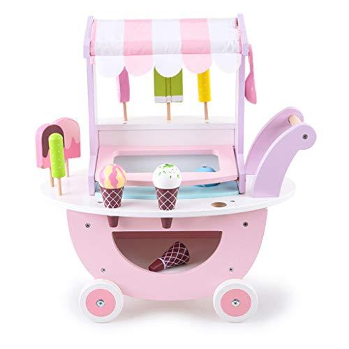 ASDG Vending Bambini dell'automobile Giocattoli per Bambini Cone Simulazione Gelato da Cucina in Legno Play House Giocattoli