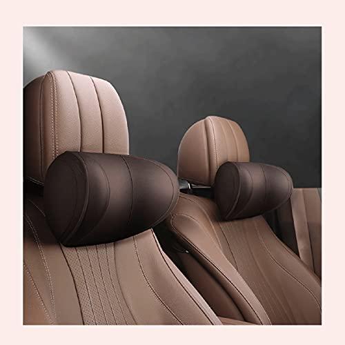 UFFD Reposacabezas Coche Pillow Memory Foam -Almohada Cervical para Coche para Conducir, Cómodo y Transpirable. (Color : Brown)