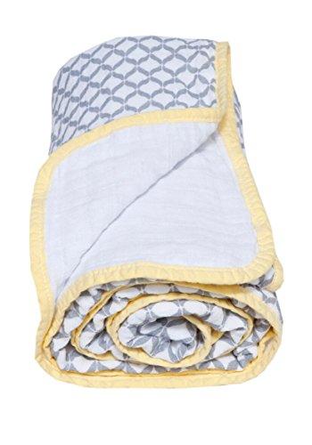 Baumwoll-Musselin Babydecke, 2-lagig, 95x110 cm, vorgewaschen von Motherhood, Farbe: grau Classic