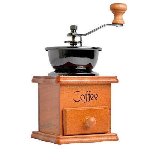 Kitrack Manuelle KaffeemüHle Massivholz Hand Bohne Maschine Retro Mini Hause Hand Kaffee MüHle Grinder