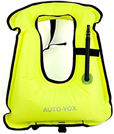 AUTO-VOX Adult Inflatable Life Snorkeling Vest Jacket Great for Snorkeling Surfing Swimming Boating Kayaking Fishing Rafting and Floating,Ensure Your Safety ...