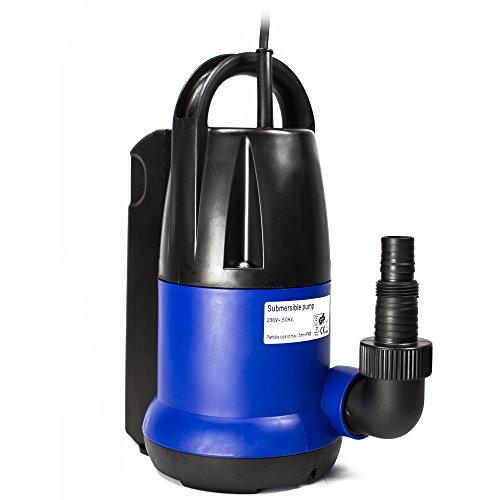 awm® AM.250-TK Tauchpumpe 250 Watt Flachsaugend Gartenpumpe Wasserpumpe Klarwasser 6000l/h