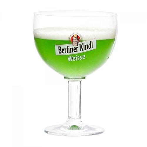 Ritzenhoff Berliner Kindl Weisse Gläser 300 ml | Bierglas Pokal mit Eichstrich bei 0,3L | edle Biertulpe auf hohem Fuß